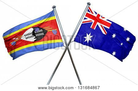Swaziland flag  combined with australian flag