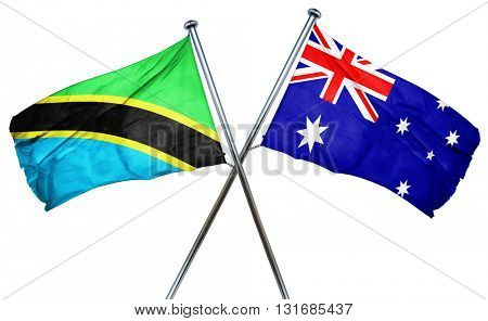 Tanzanian flag  combined with australian flag