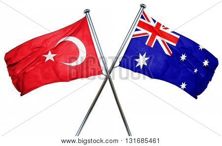 Turkey flag  combined with australian flag