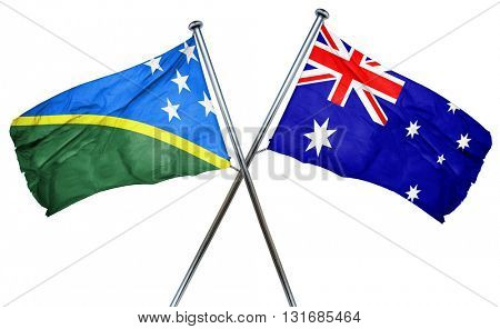 Solomon islands flag  combined with australian flag