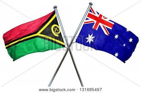Vanatu flag  combined with australian flag