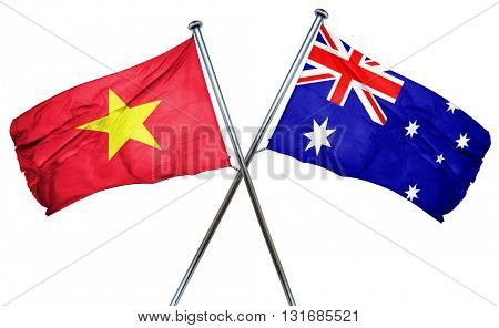 Vietnam flag  combined with australian flag