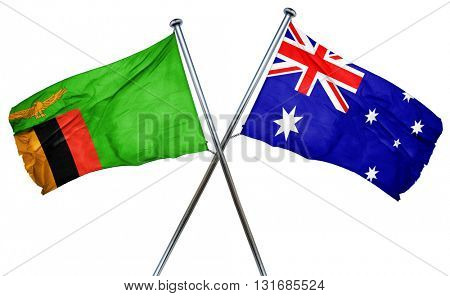 Zambia flag  combined with australian flag