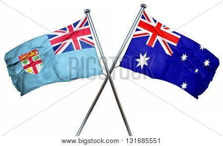 Fiji flag  combined with australian flag