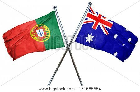Portugal flag  combined with australian flag