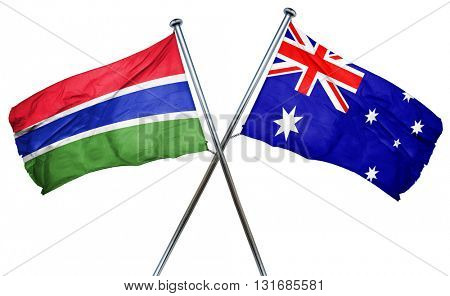 Gambia flag  combined with australian flag
