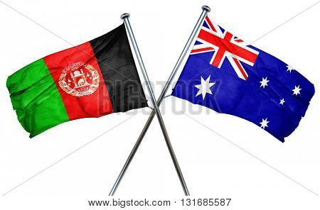 Afghanistan flag  combined with australian flag
