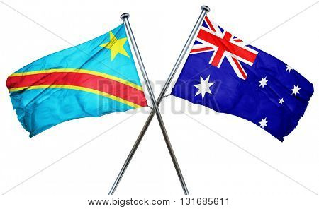 Democratic republic of the congo flag  combined with australian