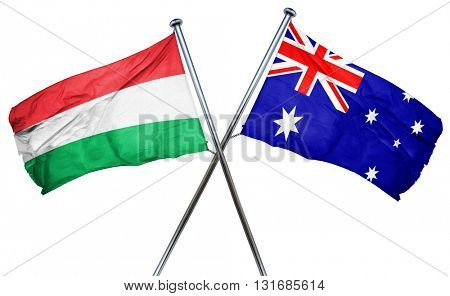 Hungary flag  combined with australian flag