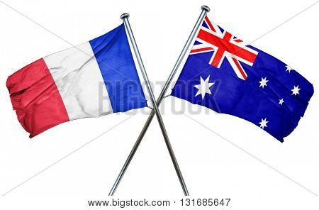 France flag  combined with australian flag