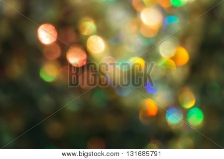 Blurred bokeh background bright different colors with nobody