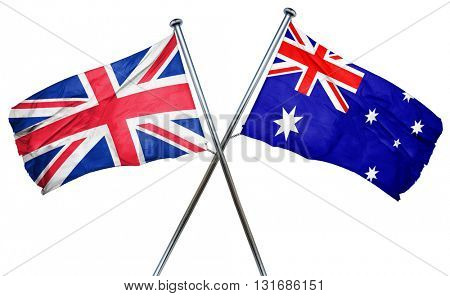 Great britain flag  combined with australian flag