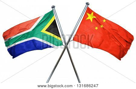 South africa flag  combined with china flag