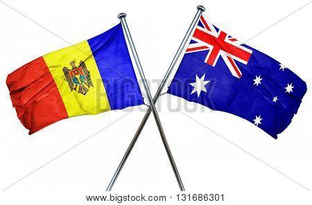 Moldova flag  combined with australian flag