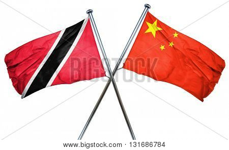 Trinidad and tobago flag  combined with china flag