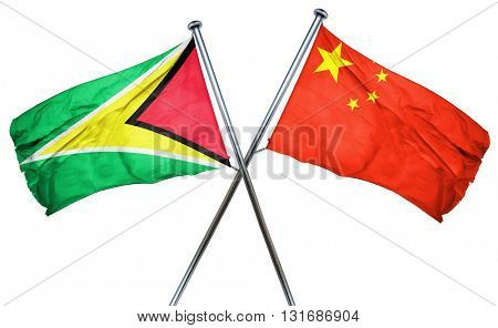 Guyana flag  combined with china flag
