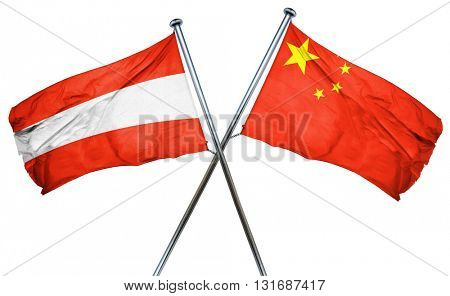 Austria flag  combined with china flag