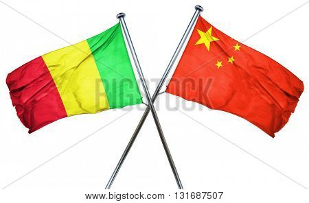 Mali flag  combined with china flag