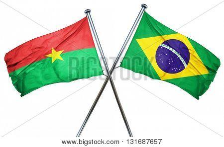 Burkina Faso flag  combined with brazil flag