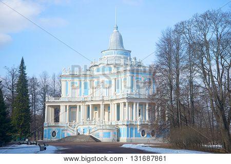 LOMONOSOV, RUSSIA - MARCH 27, 2016: Pavilion