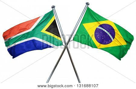 South africa flag  combined with brazil flag