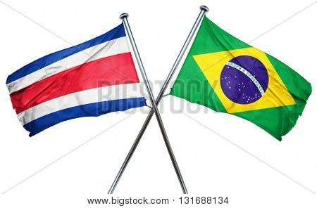 Costa Rica flag  combined with brazil flag
