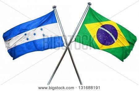 Honduras flag  combined with brazil flag