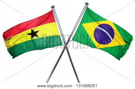 Ghana flag  combined with brazil flag