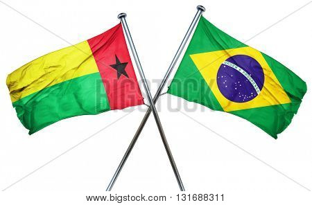 Guinea bissau flag  combined with brazil flag