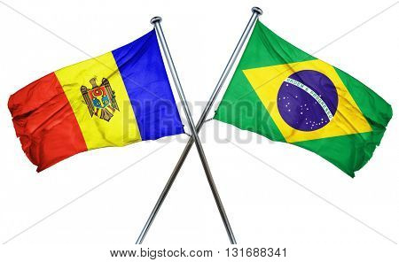 Moldova flag  combined with brazil flag