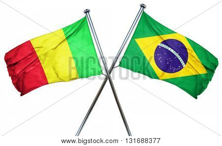 Mali flag  combined with brazil flag