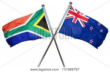 South africa flag  combined with new zealand flag