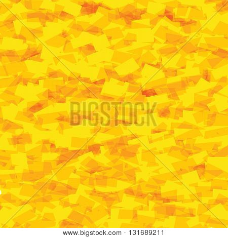 Abstract yellow distorted triangles background. Vector illustration