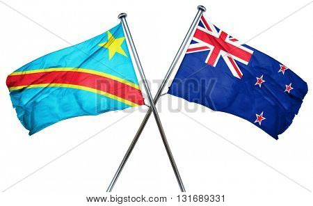 Democratic republic of the congo flag  combined with new zealand