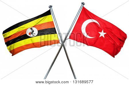 Uganda flag  combined with turkey flag