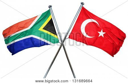 South africa flag  combined with turkey flag