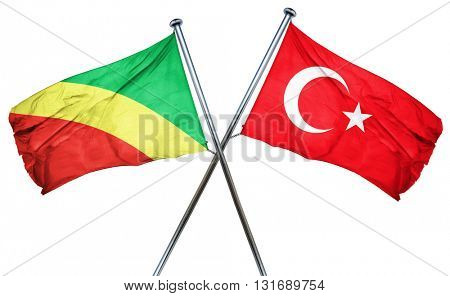 Congo flag  combined with turkey flag
