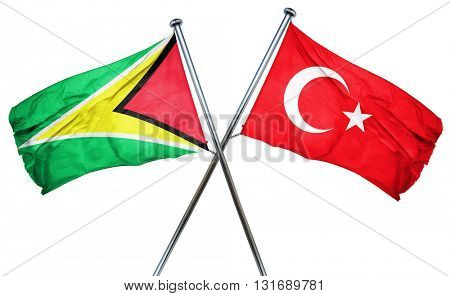 Guyana flag  combined with turkey flag