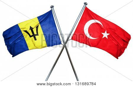 Barbados flag  combined with turkey flag