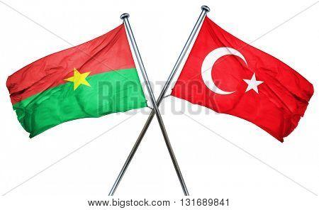Burkina Faso flag  combined with turkey flag
