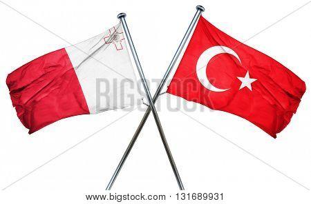 Malta flag  combined with turkey flag