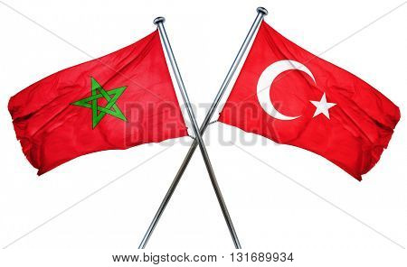 Morocco flag  combined with turkey flag