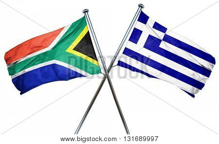 South africa flag  combined with greek flag