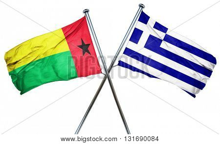 Guinea bissau flag  combined with greek flag