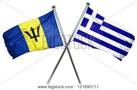 Barbados flag  combined with greek flag