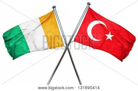 Ivory coast flag  combined with turkey flag