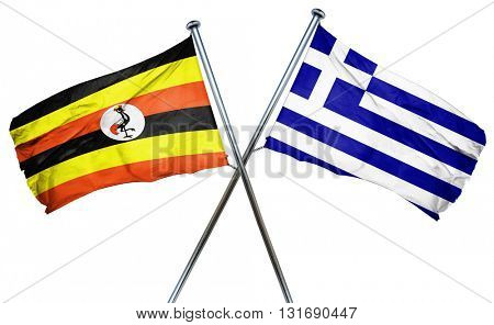 Uganda flag  combined with greek flag