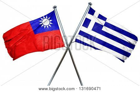 Republic of china flag  combined with greek flag