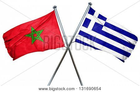 Morocco flag  combined with greek flag