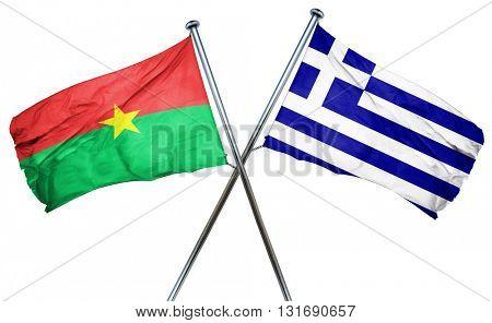 Burkina Faso flag  combined with greek flag